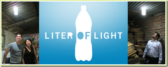 une bouteille lumineuse 100% solaire