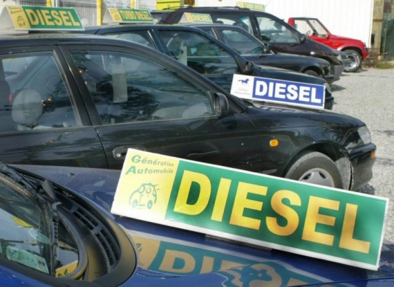 3/4 Des Véhicules sont au diesel à L'Élysée