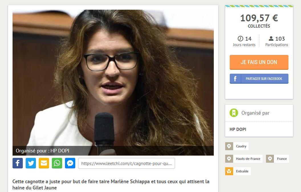 Cagnotte Pour Schiappa, déjà plus de 1000 €